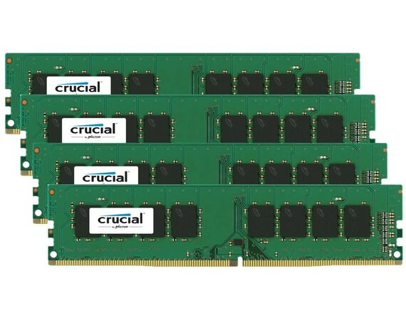 Crucial DDR4 32GB/2133(4*8GB) CL15 DR x8 288pin