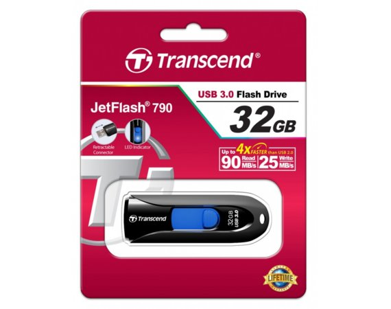 Transcend JETFLASH 790 32GB USB3 BLACK