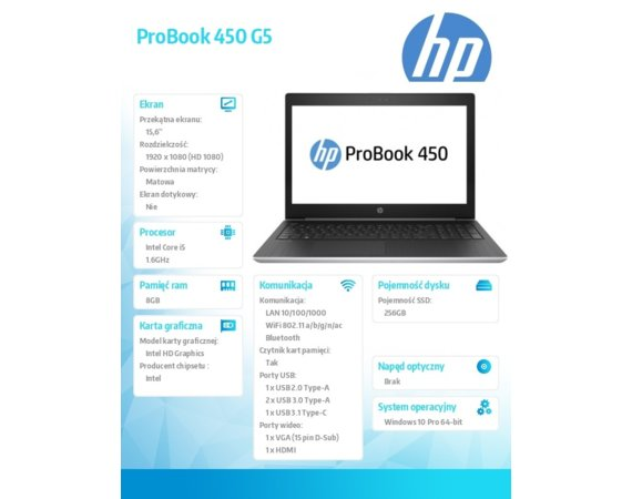 HP Inc. ProBook 450 G5  3DP35ES