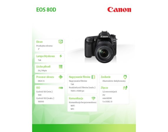 Canon EOS 80D 18-135 IS USM NANO 1263C041AA