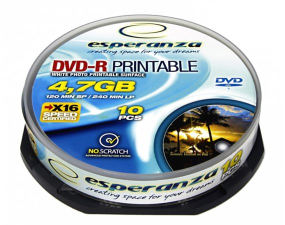 Esperanza DVD-R 4,7GB PRINTABLE CAKE 10