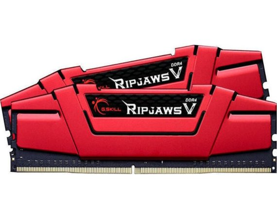 G.SKILL DDR4 16GB (2x8GB) RipjawsV 3200MHz CL14-14-14 XMP2 Red