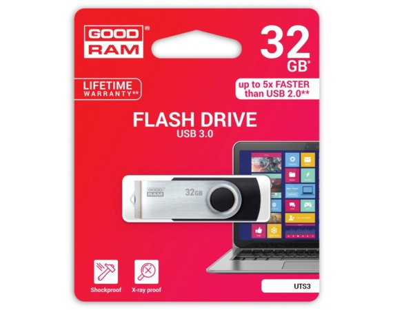 GOODRAM TWISTER BLACK 32GB USB3.0