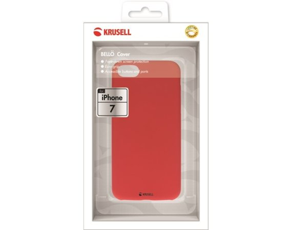 Krusell Etui APPLE iPhone 7 BELLO Cover Czerwony
