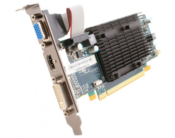 Sapphire Technology Radeon HD5450 512MB DDR3 PCI-E 64BIT DVI/HDMI/D-SUB (Passive) Low-Profile BOX