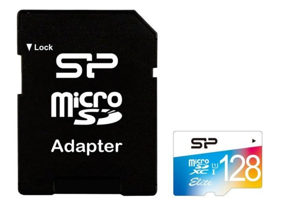 Silicon Power Karta pamięci microSDHC Colorful 128GB U1 10MB/S + Adapter