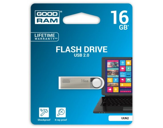 GOODRAM UUN2 16GB Silver USB2.0