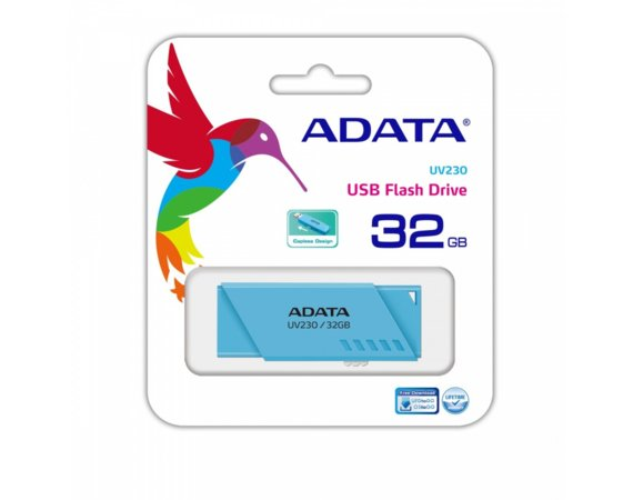 Adata Pendrive UV230 32GB USB2.0 Niebieski