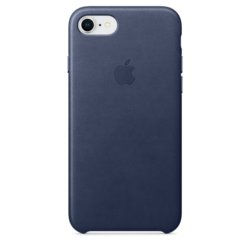 Apple iPhone 8 / 7 Leather Case - Midnight Blue