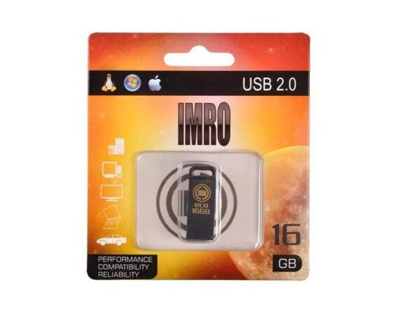 IMRO PENDRIVE ECO 16GB BLACK USB 2.0 IMRODRIVE