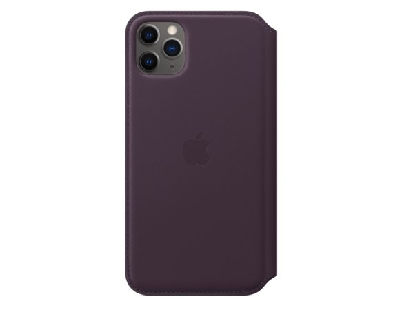 Apple Skórzane etui folio do iPhone 11 Pro - śliwkowe
