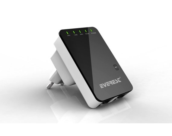 EVEREST Router EWR-523N2 Wifi Repeater 300 Mbps Black RJ45 1xWAN 1xLAN