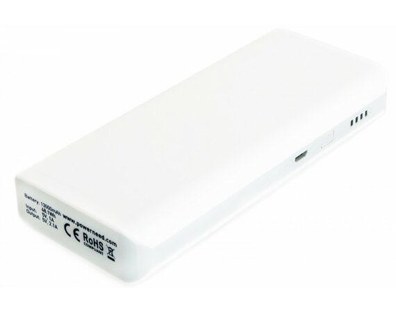 SUNEN PowerNeed - Powerbank 13000mAh,  USB 5V, 1A i 5V, 2.1A, biały