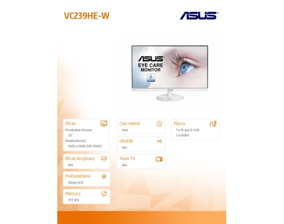 Asus Monitor 23 VC239HE-W