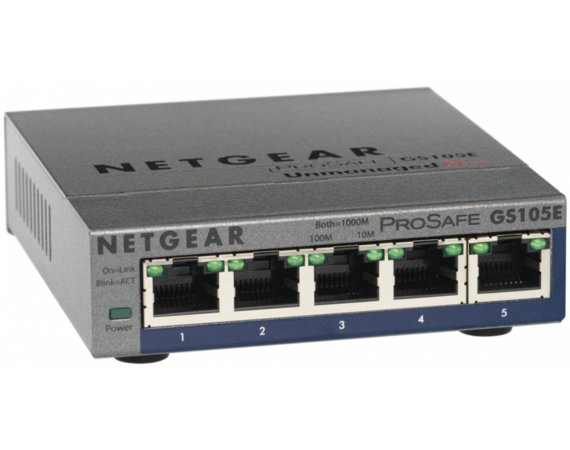Netgear Switch Unmanaged Plus 5xGE - GS105E