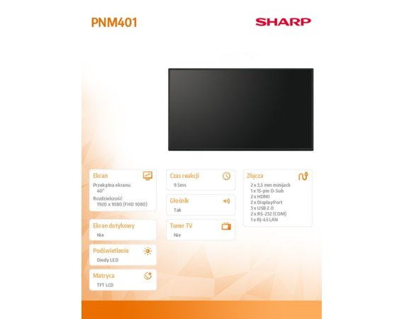 Sharp Monitor 40 PNM401