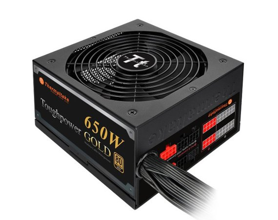 Thermaltake Zasilacz Toughpower 650W Modular (80+ Gold, 4xPEG, 140mm, Single Rail)