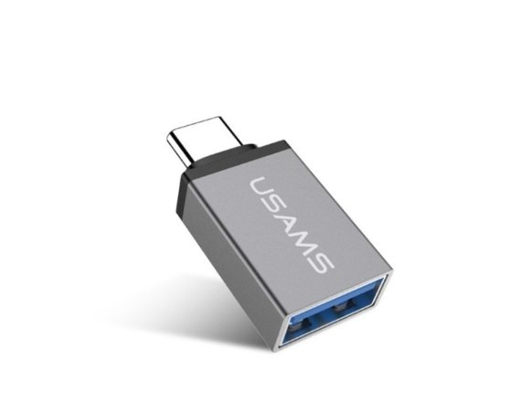 USAMS Adapter  US-SJ028  USB-C - USB OTG 3.1, szary