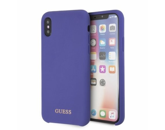 GUESS Etui hardcase GUHCPXLSGLUV iPhone X fioletowy Silicone