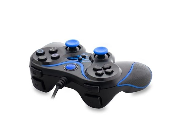 SNOPY SG-301 Black/Blue USB GAMEPAD PAD DO PC WIBRACJA ANALOG
