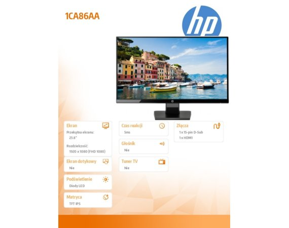 HP Inc. Monitor 24 cali 1CA86AA