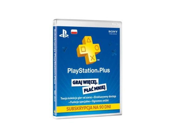 Sony PlayStation Plus Card 90 Day 9235644