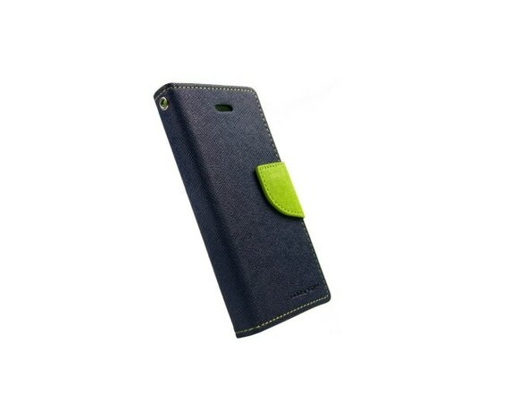 wel.com Etui skórzane Fancy do Apple iPhone 5/5s granat - limonka