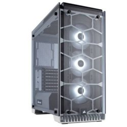 Corsair Crystal Series 570X RGB Compact ATX Tempered Glass, Compact ATX Mid-Tower / White