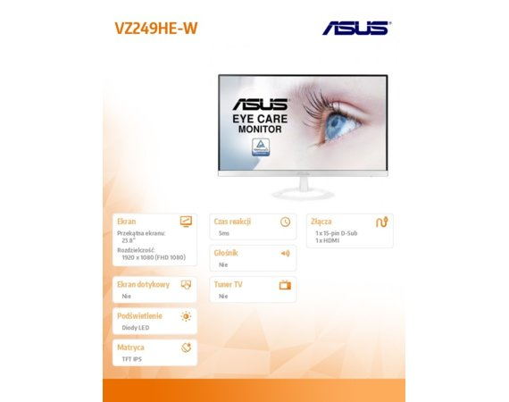 Asus Monitor 24 VZ249HE-W
