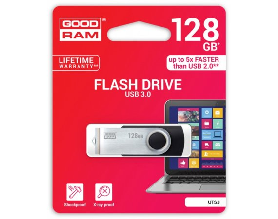 GOODRAM TWISTER 128GB Black USB3.0