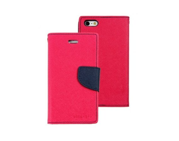 wel.com Etui skórzane Fancy do Apple iPhone 5/5s ciemny róż- granat