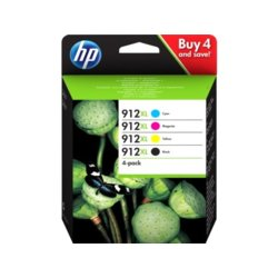 HP Inc. Tusz 912XL CMYK 4-pack Ink 3YP34AE