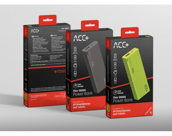 ACC+ Power Bank ACC+ THIN 10000 mAh czarny