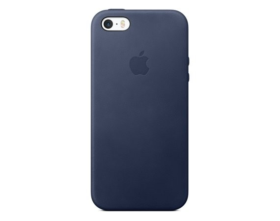 Apple iPhone SE Leather Case Midnight Blue MMHG2ZM/A