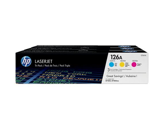 HP Inc. Toner CP1025 3-Pack CMY CF341A