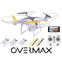 OVERMAX DRON X-BEE 3.3 WIFI OVERMAX, KAMERA FPV LED 3 BATERIE