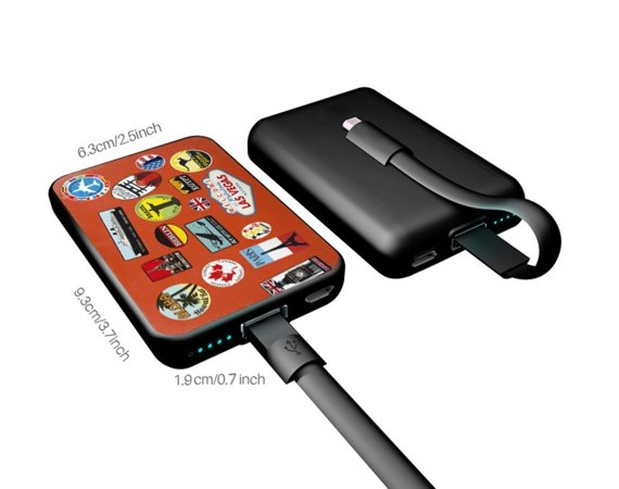 SMARTOOOLS Power Bank MC5 5000MAH CARD TRAVEL czas ładowania 5h