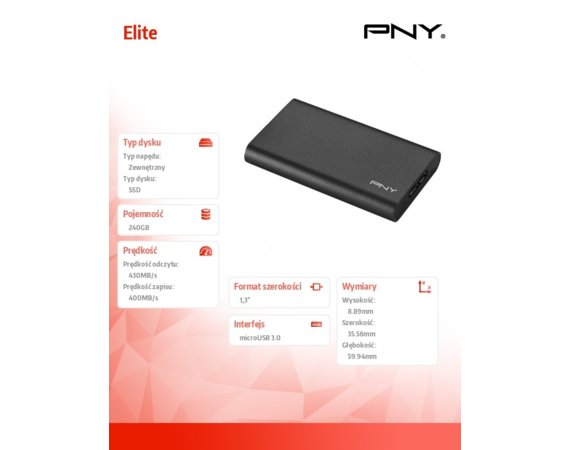 PNY Elite 240GB USB 3.0 PSD1CS1050-240-FFS