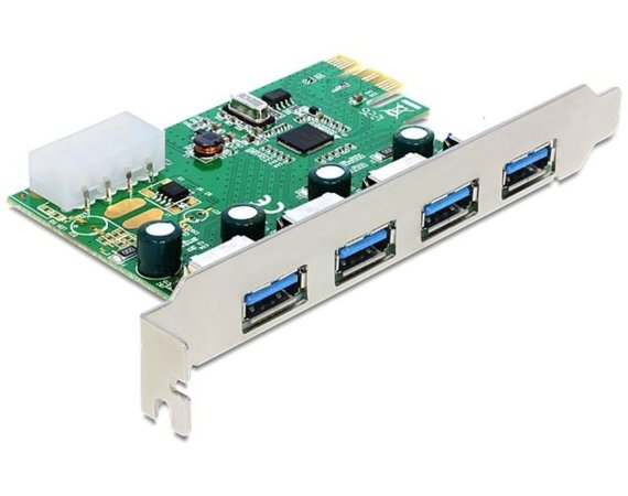 Delock Karta PCI Express -> USB 3.0 4-port NEC Low Profile