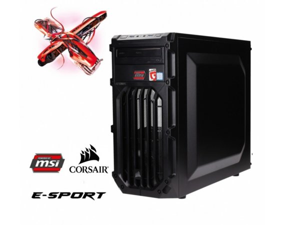 OPTIMUS E-Sport MB250T-CR26 i5-7400/8GB/2TB/GTX1050Ti GAMING X 4GB RED LED