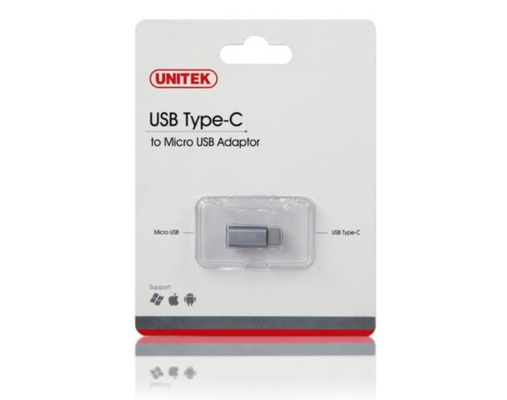 Unitek Adapter USB TYP-C do microUSB; Y-A027AGY