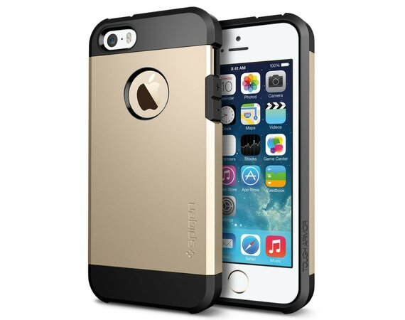 SPIGEN SGP  Tough Armor Gold Etui iPhone 5/5s/SE