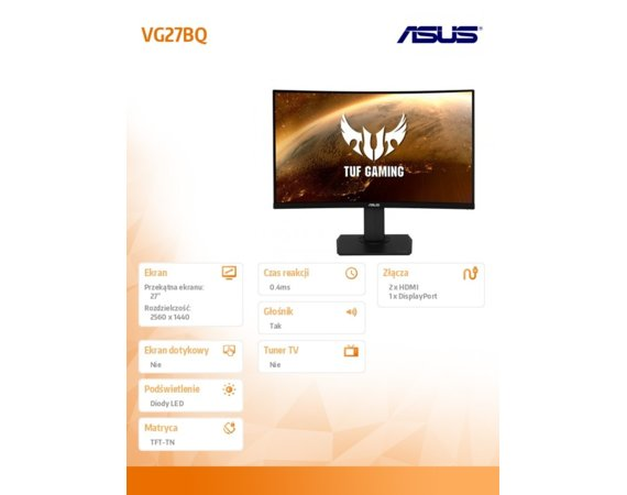 Asus Monitor 27 cali LED VG27BQ