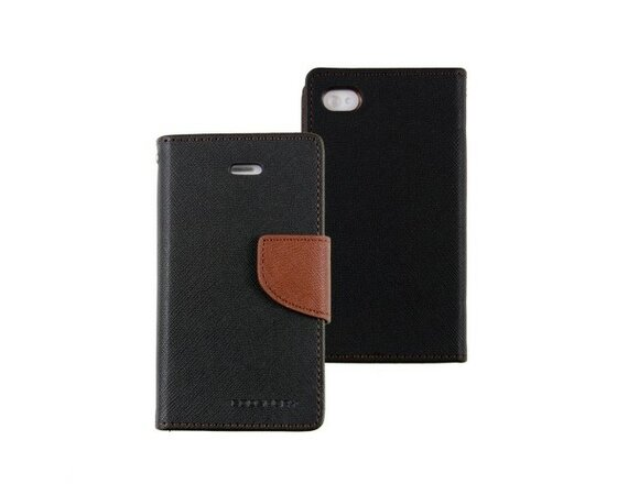 wel.com Etui skórzane Fancy do Apple iPhone 4/4s czarno - brązowe