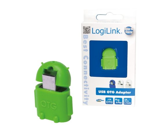 LogiLink Adapter USB OTG zielony