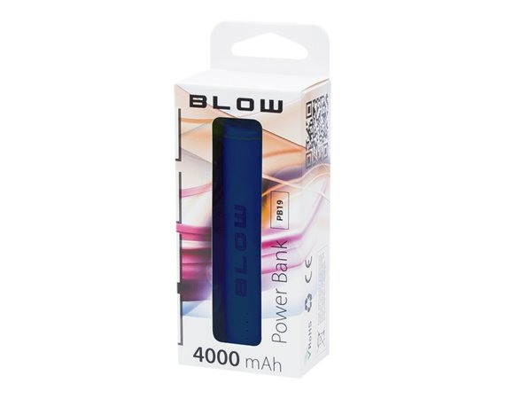 BLOW Power Bank 4000mAh 1xUSB PB19 niebieski