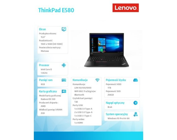 Lenovo ThinkPad E580 20KS003APB