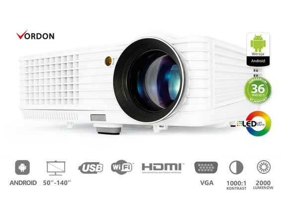 Dignity Projektor multimedialny VORDON LED LP-201-A ( Android )