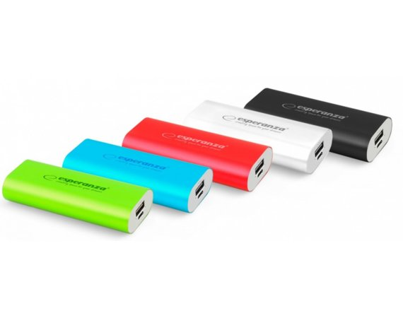Esperanza POWER BANK HADRON 4400mAh niebieski