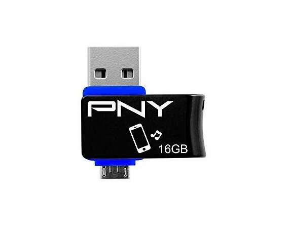 PNY 16GB USB2.0 DUO-LINK On-The-Go FDI16GOTGOU1K-EF